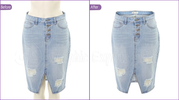 Pant Ghost Mannequin Effect Before After