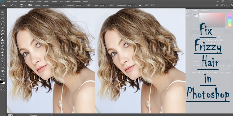 How to Fix Frizzy Hair in Photoshop